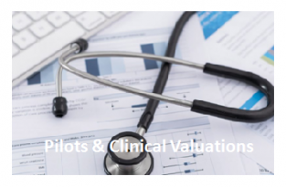 > we organize pilots throughout the healthcare sector  depending to the need of the product      AND     > we will guide you/organize clinical valuations parallel to the classification /  conformity assessment procedure